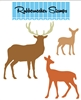 Deer Family Die Cut 5162-10D
