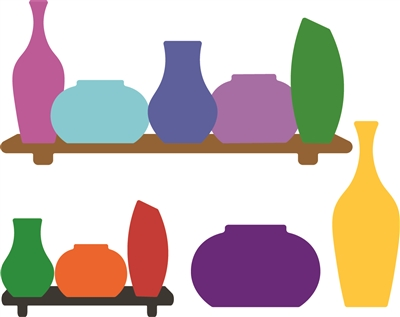 5309-05D Vases and Shelves Die