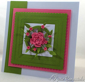 Paper Frames And Flowers Card