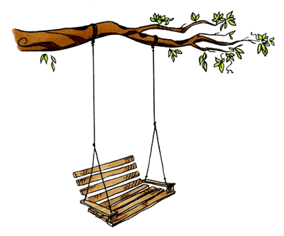 Tree with Bench Swing 1106-03