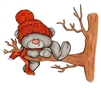 1250-02 Winter Bear in Tree