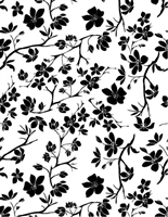 1345 blossom silhouette background