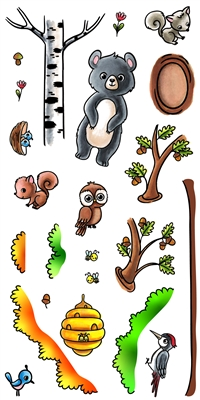3326 Woodland Animals #3 Clear Set