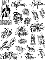 3328 Christmas Phrases Large/Small