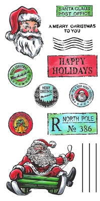 3333 Santa Post Card Set
