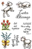 3404 Lambs and Flowers Set