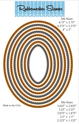 Nested Oval Small Stitch Die Cut Set 5014D