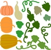 5215-05D Pumpkins and Ivy Die