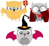 5335-02D Owl Halloween add on's Die