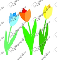 5402-01D Tulips and Stems Die