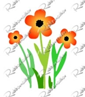 5402-04D Classic Flower and Stems