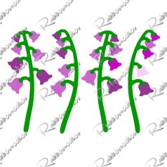 5402-05D Canterbury Bells and Stems