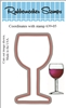 Wine Glass Die Cut 639-05D