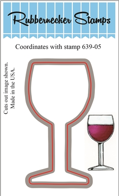 639-05D Wine Glass Die Cut