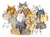 Group of Cats 892-18