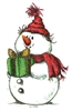 Snowman With Present 963-03