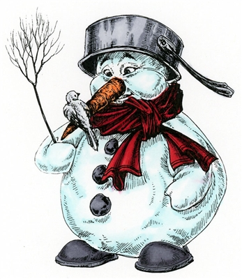 Snowman with Pot Hat 965