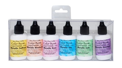Color Burst 6 Pack Set Liquid Metals Precious Alloys