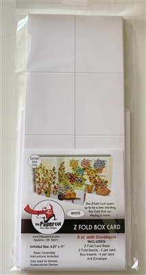 Z Fold Box Card Kit White Card Base